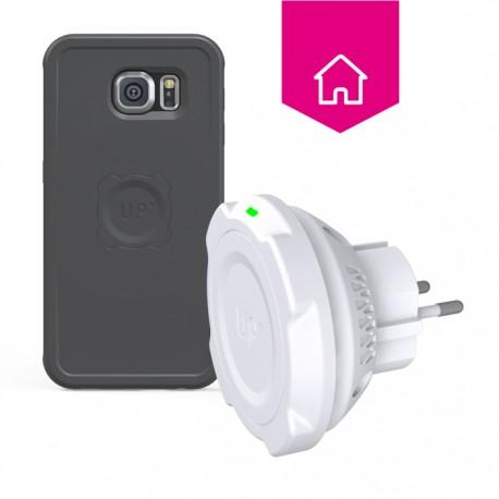 Chargeur sans fil prise secteur - Galaxy S6 - charge sans fil up' - store Exelium