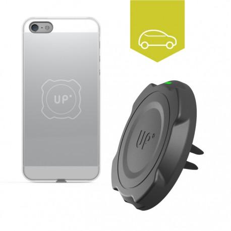 Chargeur sans fil voiture grille d'aération - iPhone 5/5S/SE - charge sans fil up' - store Exelium
