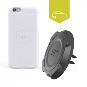 Chargeur sans fil voiture grille d'aération - iPhone 6/6S Plus - charge sans fil up' - store Exelium