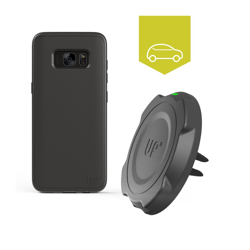 Magnetic car mount wireless charging
