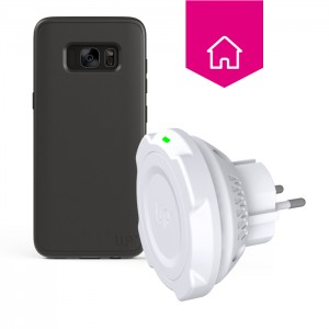 Wall socket wireless charger - Galaxy S8 - Up wireless charging