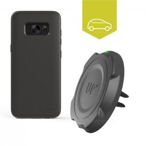 Chargeur induction voiture grille d'aération - Charge sans-fil Galaxy S8 Plus
