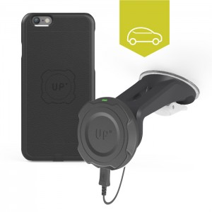Chargeur sans-fil voiture pare-brise - iPhone 6/6S Plus - charge sans fil up' - store Exelium