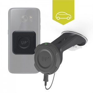 wireless charging car mount - Qi enabled phones - Up' wireless charging - Exelium Store