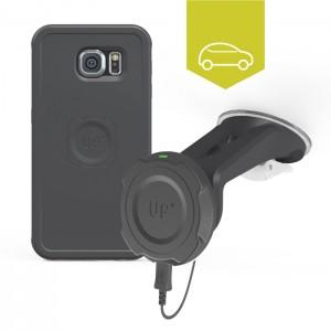 Chargeur sans-fil voiture pare-brise - Galaxy S6 - charge sans fil up' - store Exelium