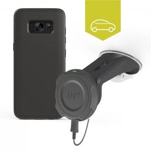 Chargeur sans-fil voiture pare-brise - Galaxy S8 - charge sans fil up' - store Exelium