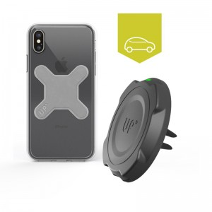 Chargeur induction voiture grille d'aération - Charge sans-fil iPhone X / XS