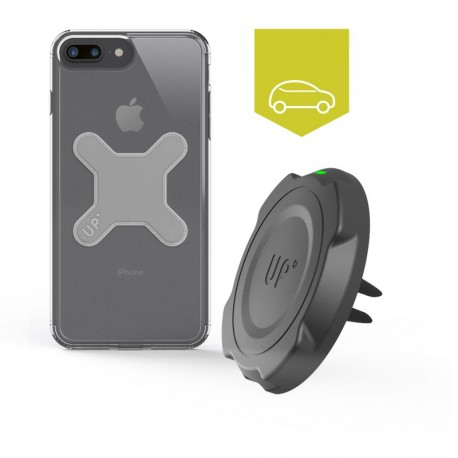 Chargeur sans fil voiture grille d'aération - iPhone 7 - charge sans fil up' - store Exelium