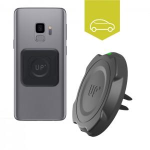 Chargeur sans fil voiture grille d'aération - Galaxy S9 / S9 Plus - charge sans fil up' - store Exelium