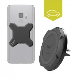 Chargeur sans fil rapide voiture grille d'aération - Mobiles Qi inclus - charge sans fil up' - store Exelium